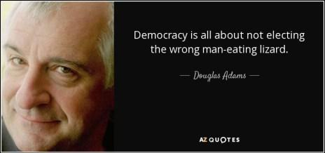 """Képtalálat a következőre: """"douglas adams lizards democracy"""""""