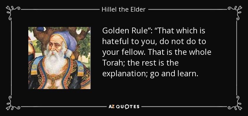 Image result for image of golden rule by rabbi hillel