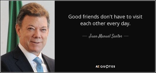 Image result for Good friends don't have to visit each other every day.