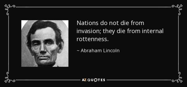 Fact check: Abraham Lincoln quote about 'internal rottenness' is fake