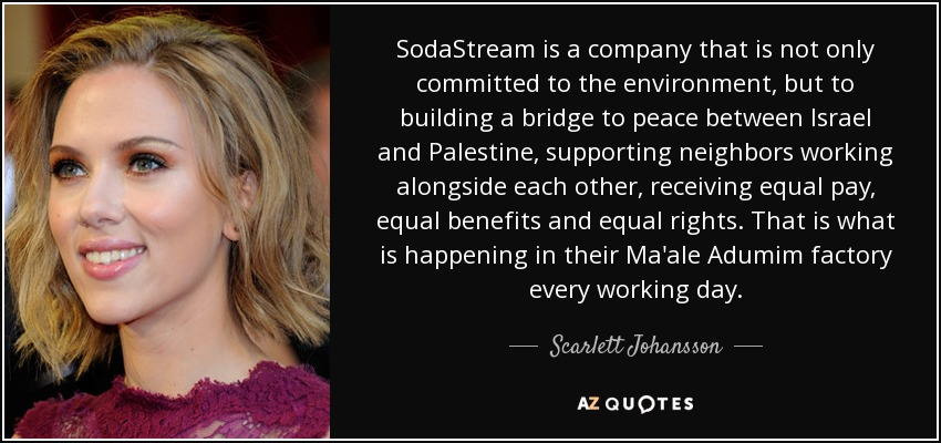 Image result for scarlett johansson and soda stream