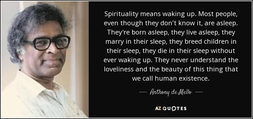 Image result for Spirituality means waking up...