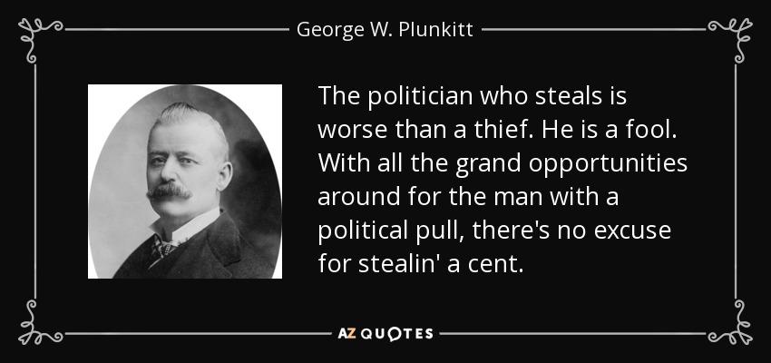 honest graft and dishonest graft
