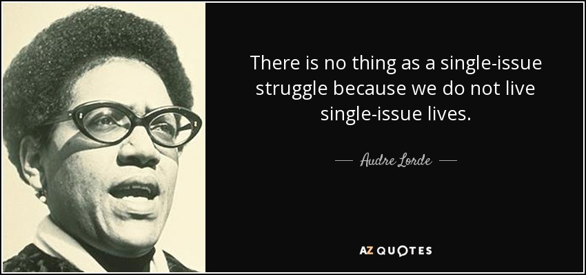 Image result for Audre Lorde quotes single issue lives