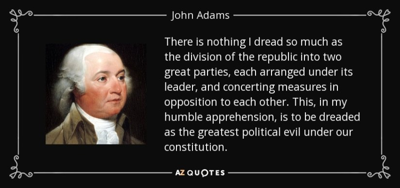 Image result for john adams on political parties
