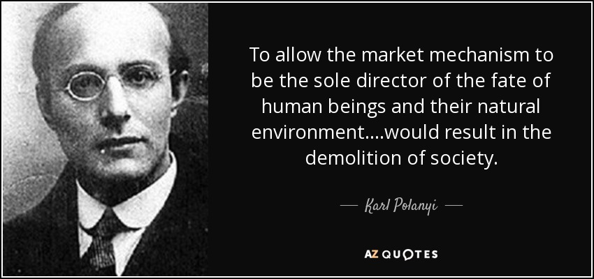 Resultado de imagen de karl polanyi market