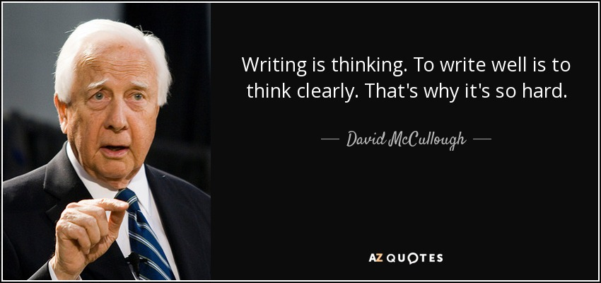 Image result for thinking about writing quote
