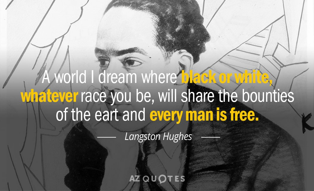 About Langston Quotes Hughes Love