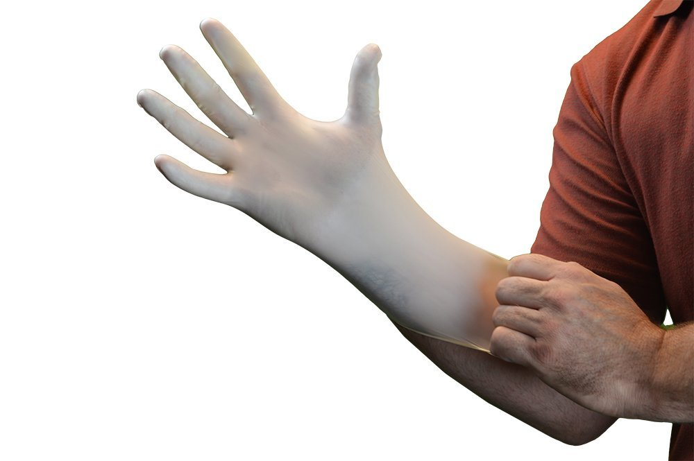 Gloveplus Powder Free Textured Latex Gloves 10 Boxes Of