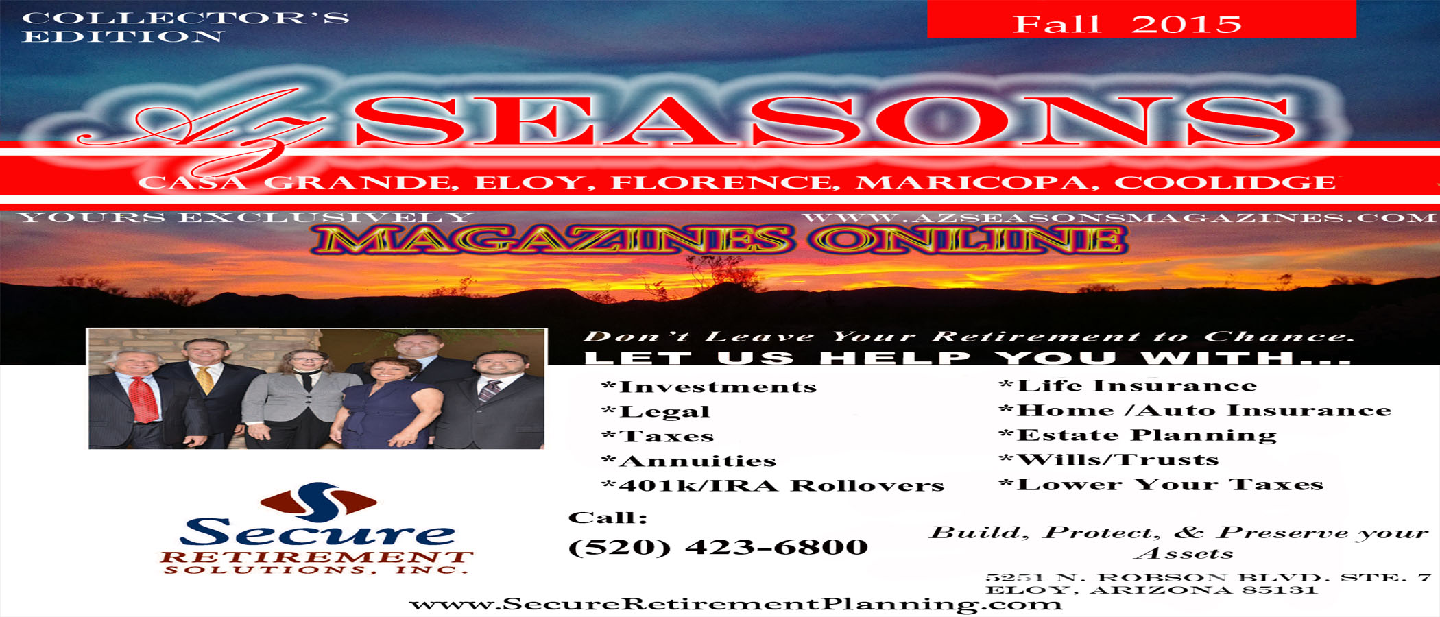 SECURE RETIREMENT SOLUTIONS, TAX , RETIREMENT PLANNING