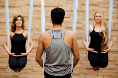 Aerial Yoga at Well & Being at Willow Stream Spa