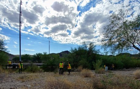 Sustainability Volunteers cleaning an Arizona Park