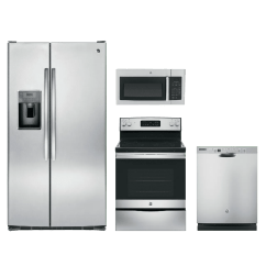 4 Piece Stainless Steel Kitchen Package Solid Wood Sets Appliance Packages Home Appliances