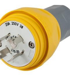plug w tight 3p 20a 250v l15 20p yl [ 1000 x 817 Pixel ]