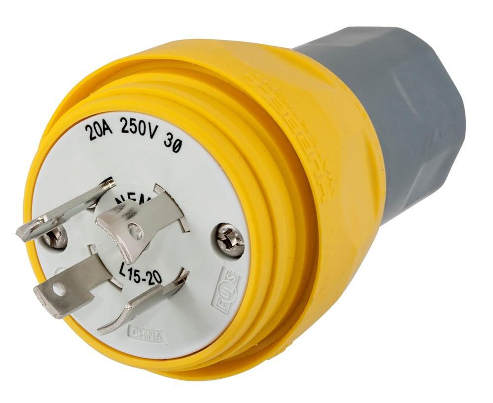 hight resolution of plug w tight 3p 20a 250v l15 20p yl