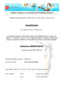 Certifikát rekvalifikace Tanec