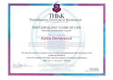 Certifikát Théta Hra života