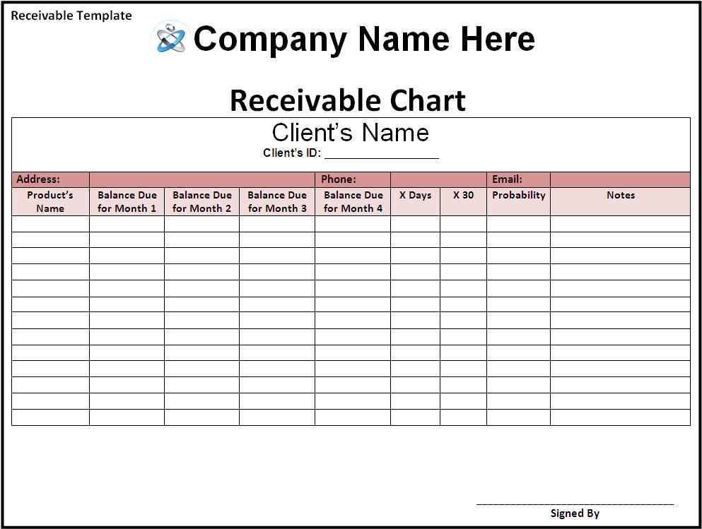 Bill Receivable Template Free Printable Word Templates