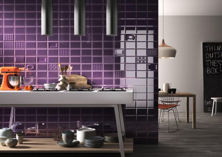 Un toque retro en los azulejos de la cocina azulejos pe a - Azulejos pena arganda del rey ...