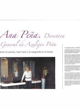 Ana Peña, Directora General de Azulejos Peña