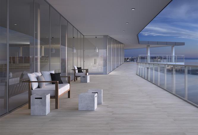Suelo porcel nico para ambientes de exterior azulejos pe a - Ceramica imitacion madera exterior ...