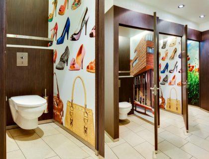Piezas de baño para aseos públicos