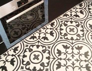 azulejos hidráulicos en la cocina
