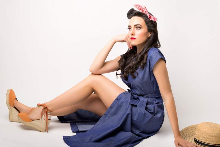 Look Vestido Saltamontes - SS Spring Bichos - Azul Marino Casi Negro