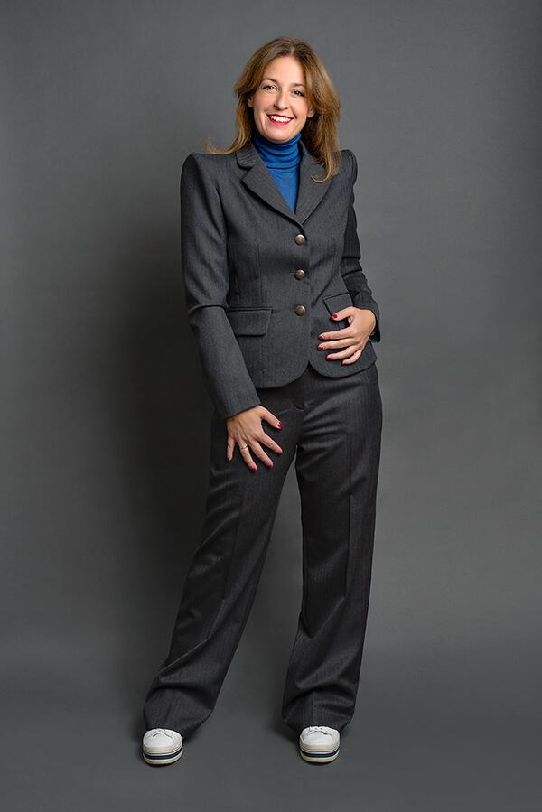 Pantalón Josefina Gris Espiga 3 - AW2021 Las SinSombrero - Azul Marino Casi Negro - Moda sostenible
