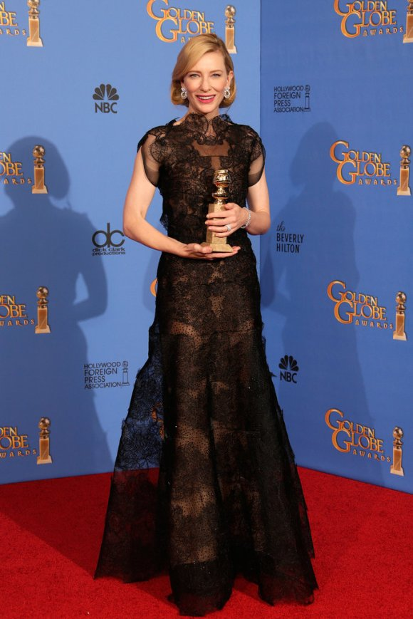 Cate Blanchett Golden Globes 2014 Armani Privé