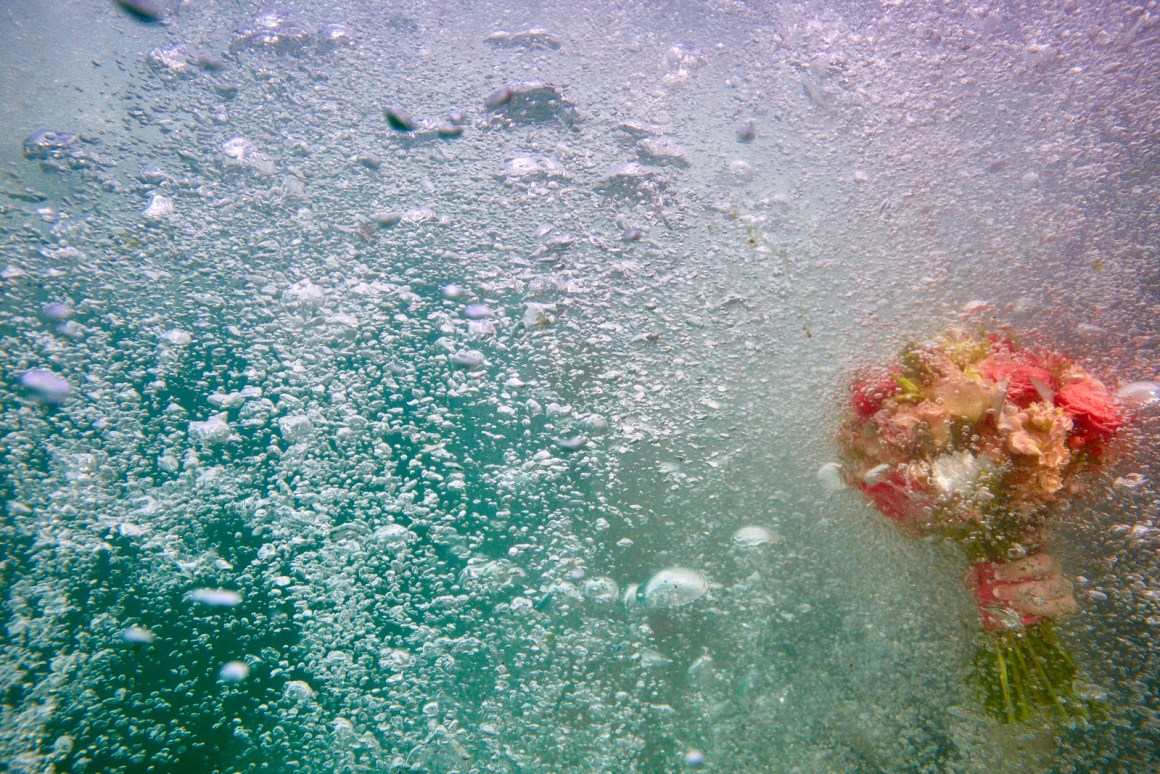 Underwater Wedding Bouquet.