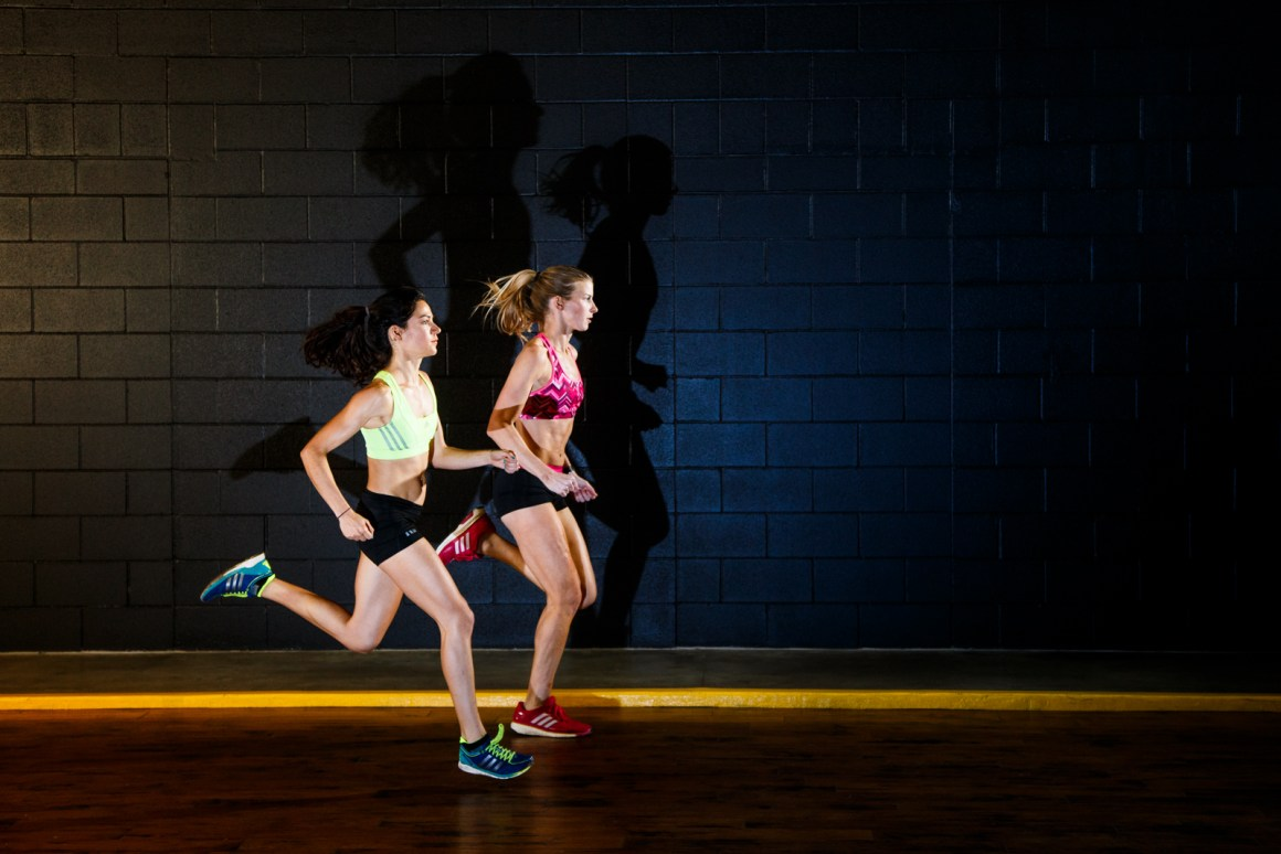 Liftoff, from a personal fitness shoot I commissioned with Rogue AC gals Anne and Kristen. Love strong women