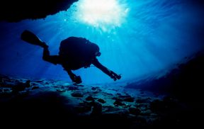 A cave diving friend, Carl Griffing, before I was a photographer. Diving was my intro into photography. I bought an underwater camera for a technical dive trip.