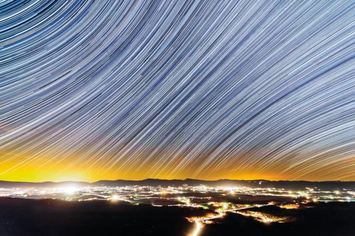 Shenandoah Valley from the Wonderland Trail - Basic Star Trail Photography
