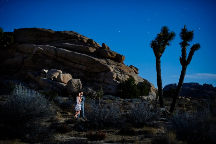 Joshua Tree Engagement Portrait- First Impression of the Nikon 105mm f/1.4E ED