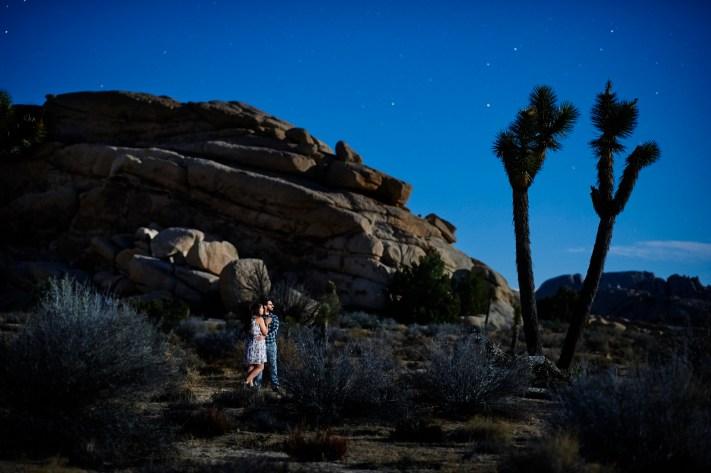 Joshua Tree Engagement Portrait- First Impression of the Nikon 105mm f/1.4E ED