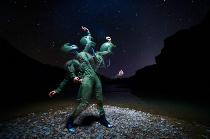 Portrait using Digital Night Photography