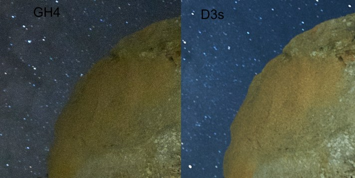 Comparing the GH4 vs the D3s for Milky Way Photography