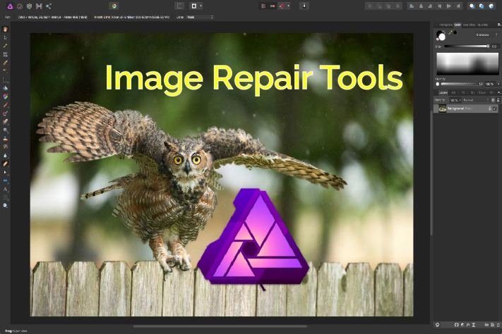 Affinity Image Repair Tools