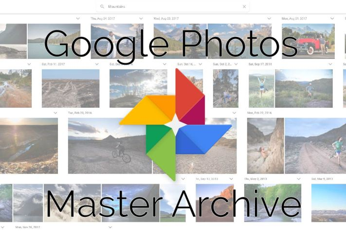 Create a google photos master archive.