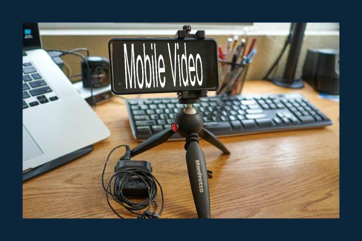 Mobile Video Setup - Google Pixel on Manfroto mini tripod.