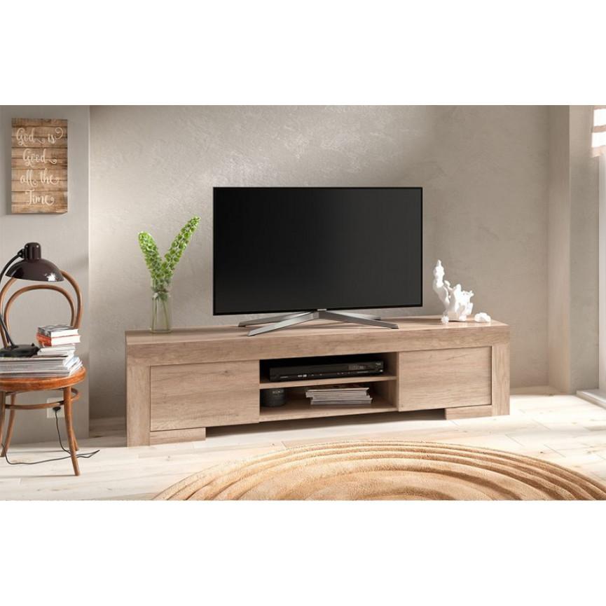 Meuble TV ROMA 170 cm chne gris  Meuble tv design  boutique demeuble design