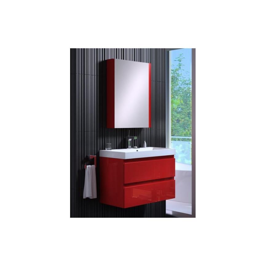 Ensemble de salle de bain COMO 60cm rouge  Meuble Salle de bain une vasque  Dcoration salle