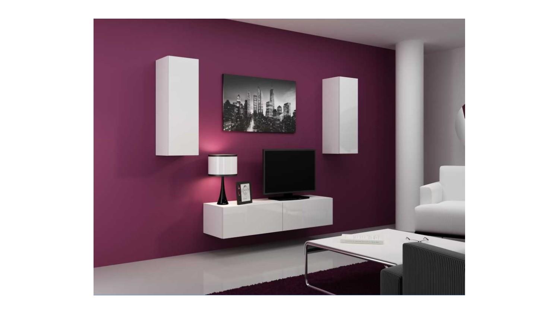 meuble TV vigo set blanc noir  sjourmeuble tv