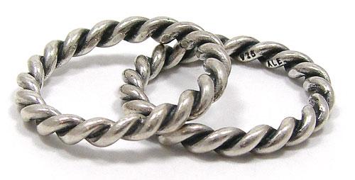 Vintage Sterling Silver Twist Ring By Pandora