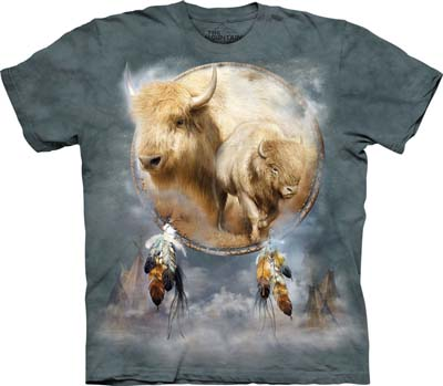 White Buffalo Shield extra large t-shirt