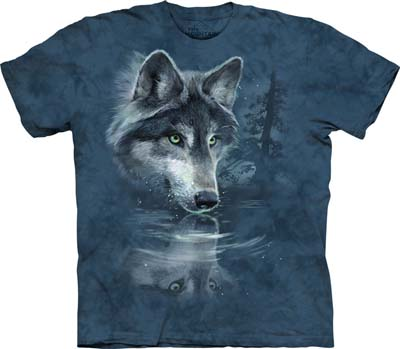 Wolf Reflection medium t-shirt