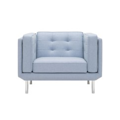 Eq3 Sofa White Single Seater Plateau Chair By Azure Magazine