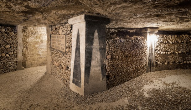 Image result for paris catacombs