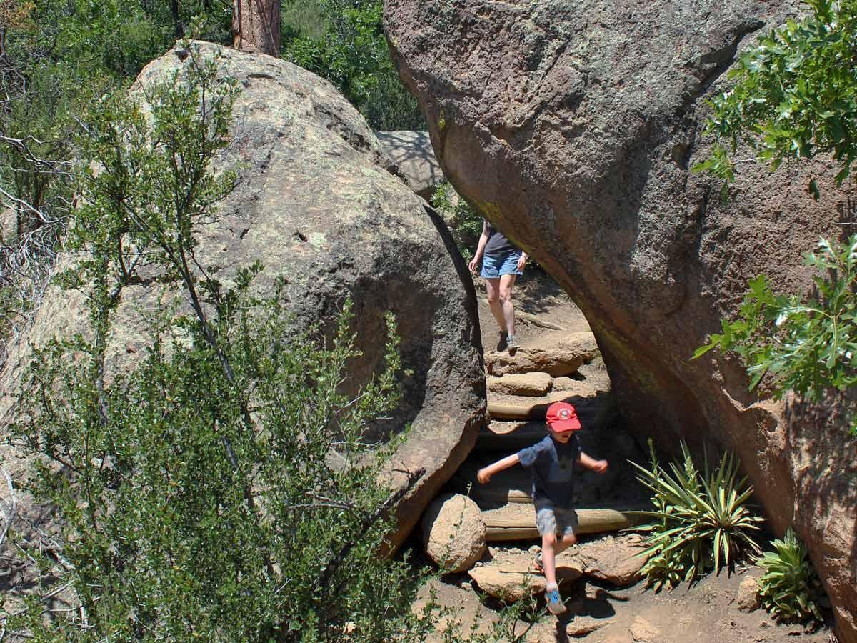 Flagstaffs Fatmans Loop Hiking Trail has boulders galore